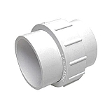 "2"" Union, PVC White Standard Union Adapter with Slip Ends"