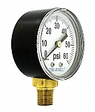Pressure Gauge - 60 psi, Black Plastic Casing