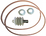 Drive Belts,Two Bushings and Pulley (Add On To Other Part Kits For Units With Two Drive Motors)