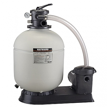 """HAYWARD 19"""" 1.5HP SAND FILTER PUMP SYSTEM W/ HOSE KIT - ABOVE GROUND POOLS UP TO 20K GALLONS"""